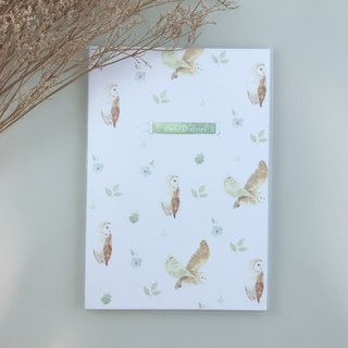 Owl Notebook (180 Flattened Bare Back Binding Edition) - Gift Stickers