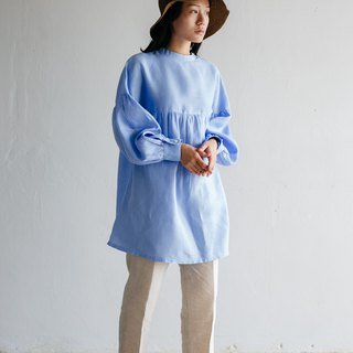 Long sleeve with frill top in Sky blue