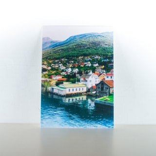 Photographic Postcard: Small town on the edge of a Norwegian fjord III