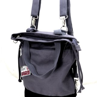 Canvas 3 with a bag (handbag / shoulder bag / backpack) --- dark gray