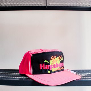 River Hill - Ginza fluorescent bubblegum pink summer night six antique cut flat top Benn baseball cap peaked cap / baseball cap