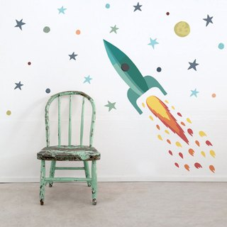Spanish Tresxics Rocket Wall Sticker (Green)