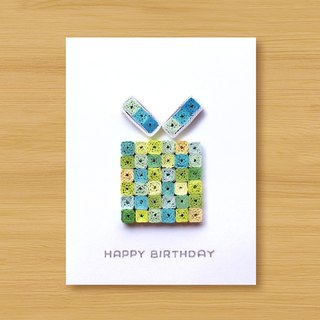 Handmade Roll Paper Card _ Ocean Style Mosaic Birthday Gift Box A ... Birthday Card, Thank You Card