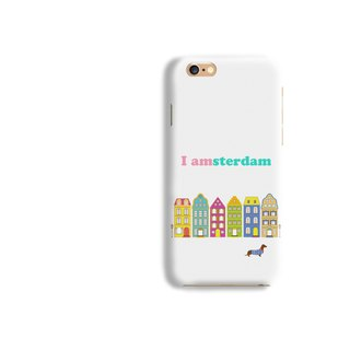 Amsterdam Pattern Matt hard Phone Case iPhone X 8+ 7 6 S8 plus Samsung S8 S7 LG