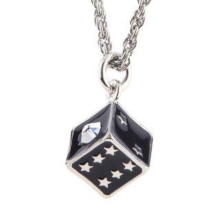 Game Dice Chain Swarovski Dice Necklace
