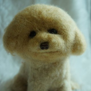 Wool felt artificial firewood dog customized (15cm large)