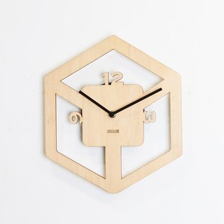 LOO wooden silent wall clock | stereo