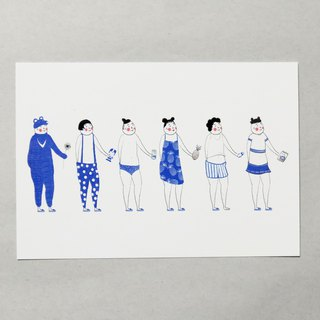Transvestite North North Fashion Uncle_Taiwan / Illustrator Postcard