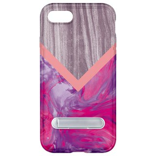 Wood pink marble hidden magnet bracket iPhone 8 7 6 plus mobile phone case mobile phone case