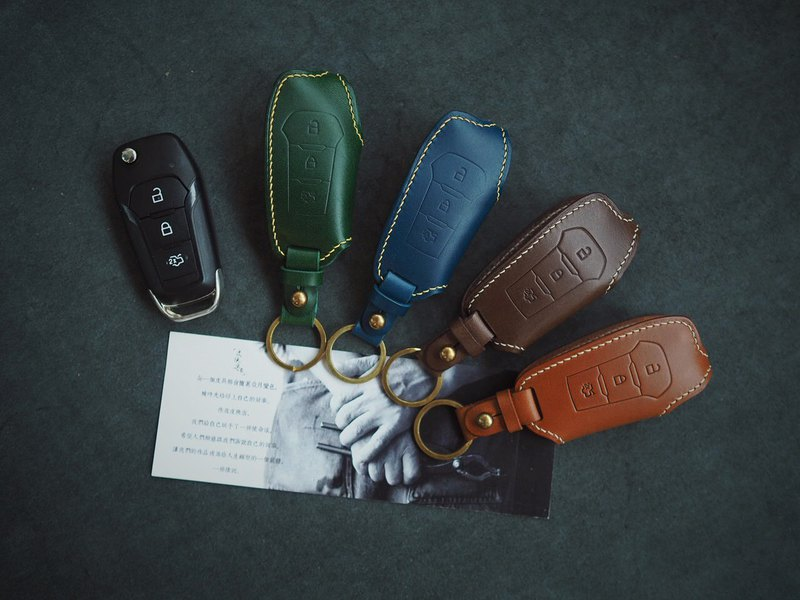 Customized Handmade Leather Ford Car key Case./Car Key Cover/Holder,Gift