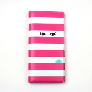 Elf anti-theft travel passport long clip /03.Poovle-stripe