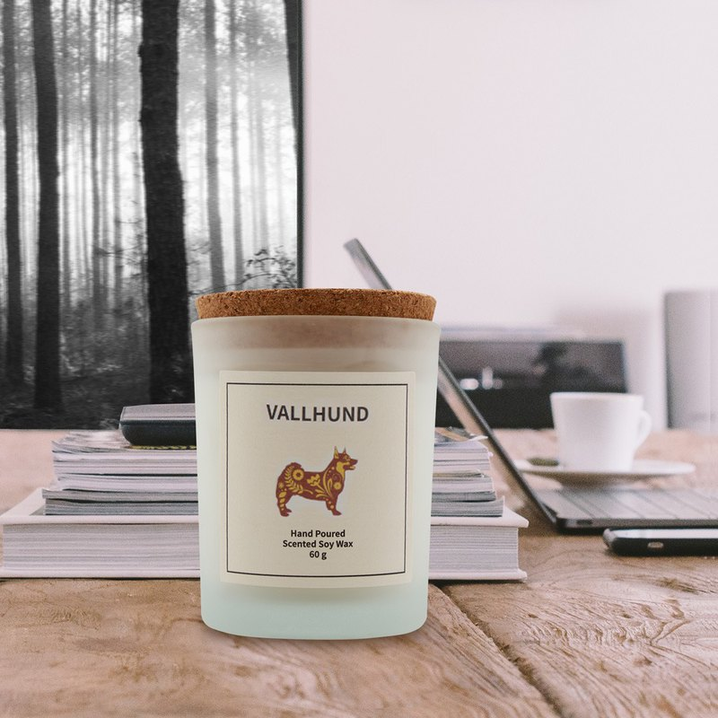 Swedish Design 60g Vallhund Soy Wax Candle - Woody Note
