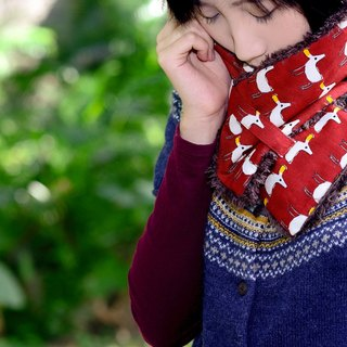 【Two】 wool short scarf series