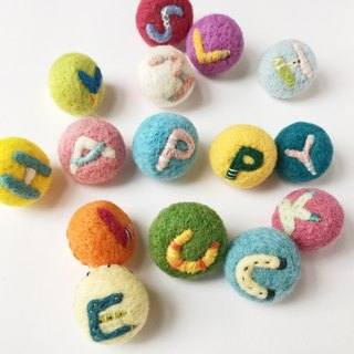 Needle felted Alphabet pin