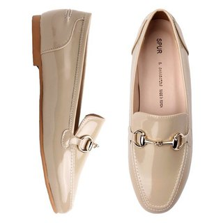 SPUR Ring chain Loafer JS9078 BEIGE