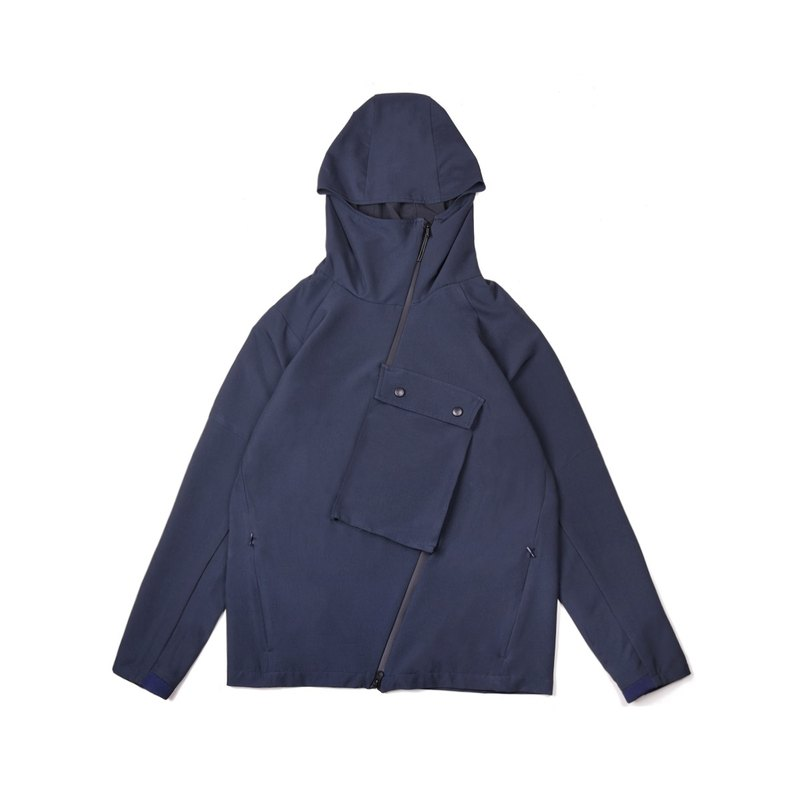oqLiq - AdHeRe - Interchangeable zippered hoodie (late night blue)