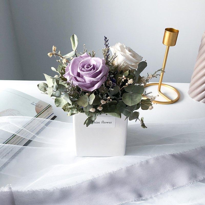 薰衣草 玫瑰 盆花 桌花 永生花 乾燥花 母親節禮物 開幕花禮