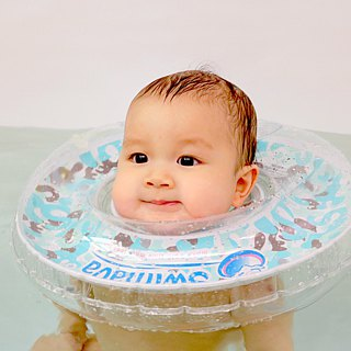 Swimava ─ G1 light blue camouflage baby swimming collar
