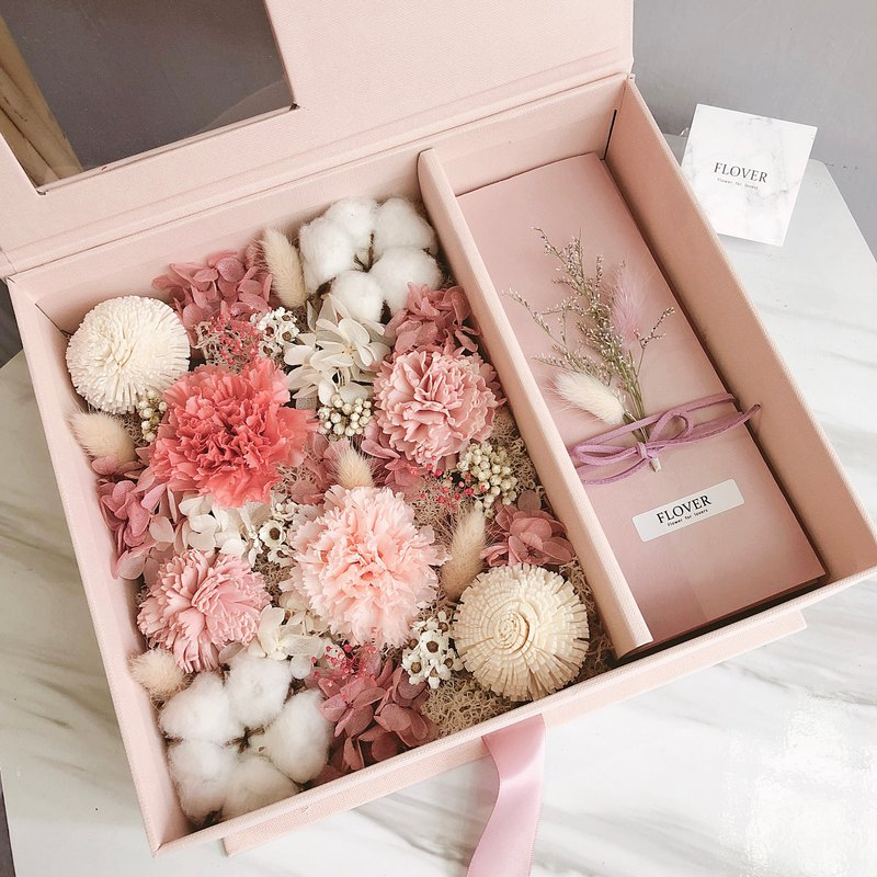 Gentle powder - carnation red envelope gift box