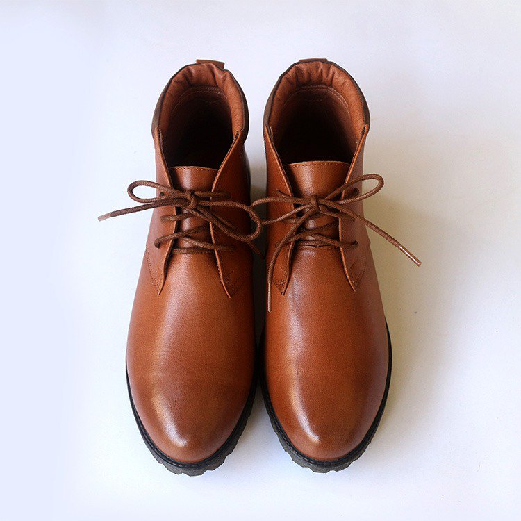 [Re-Engrave Time Machine] Oil Wax Loose Booties_Brown