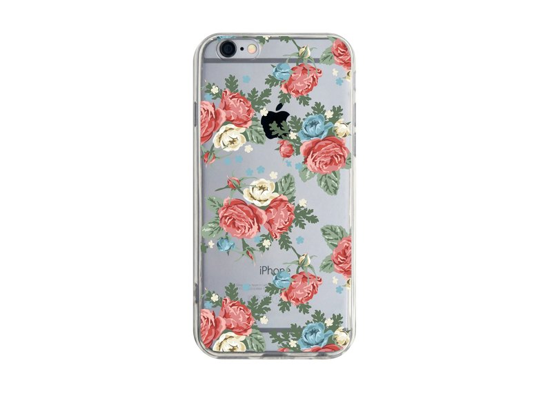 English Rose Garden iPhone X XS Max Xr 8 7 Plus note S9 Red Rice Phone Case
