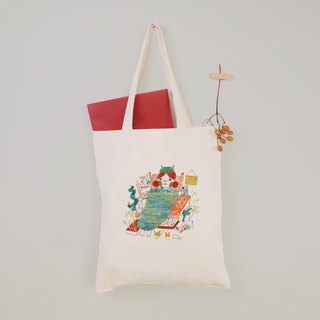 [Character Illustrator] I really want to fake canvas tote bag