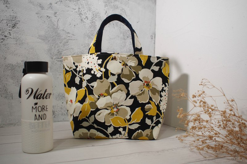 Home wine M series / tote bag / tote bag / limited edition hand bag / yellow flower raft / out of print pre-order