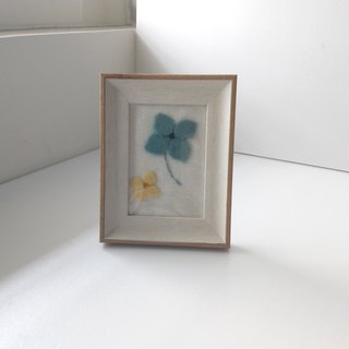 wool felt floral patterns in frame