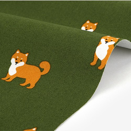 Dailylike design fabric Oxford cloth - I love Shiba Inu, E2D09819