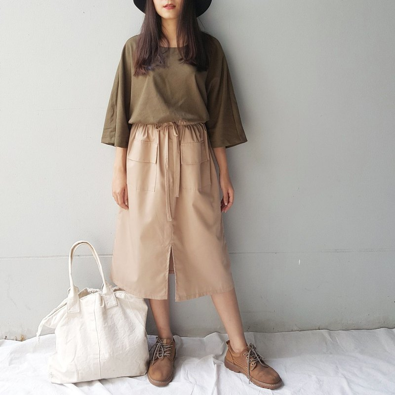 Everyday cotton skirt - Khaki