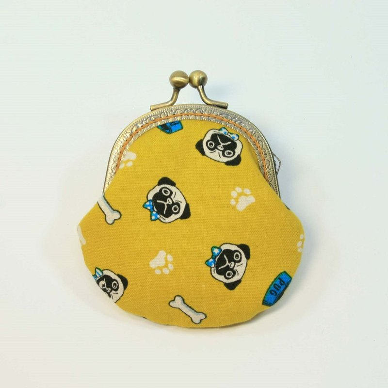 8.5cm gold coin purse 38 - bucket yellow