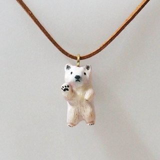 Polar bear handmade necklace