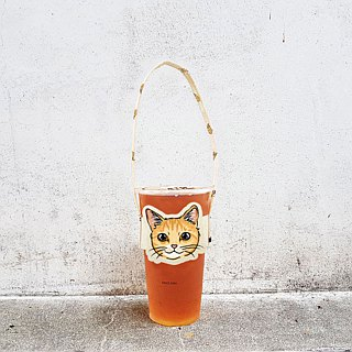 Modeling accompanying beverage cup holder bag - cat