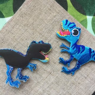 Cloth Embroidery Magnet - Dinosaur Resurrection Series Brother (single)