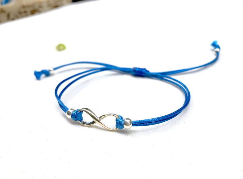 【 925 sterling silver】 Infinity Bracelet (むげん sapphire blue)