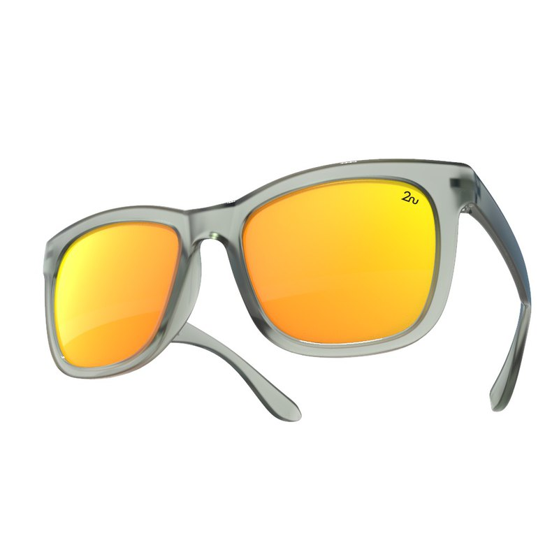 2NU - FANCY2 Sunglasses - Matte Grey - Fire Revo Lens