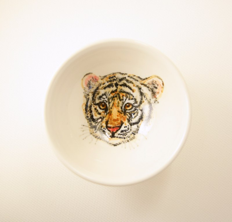 Hand-painted small cup small cup -12 Zodiac Tiger