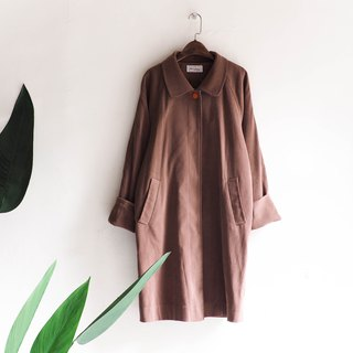Kawamisan - Kagawa cappuccino tea time Antique thin trench coat coat trench_coat dustcoat jacket coat oversize vintage