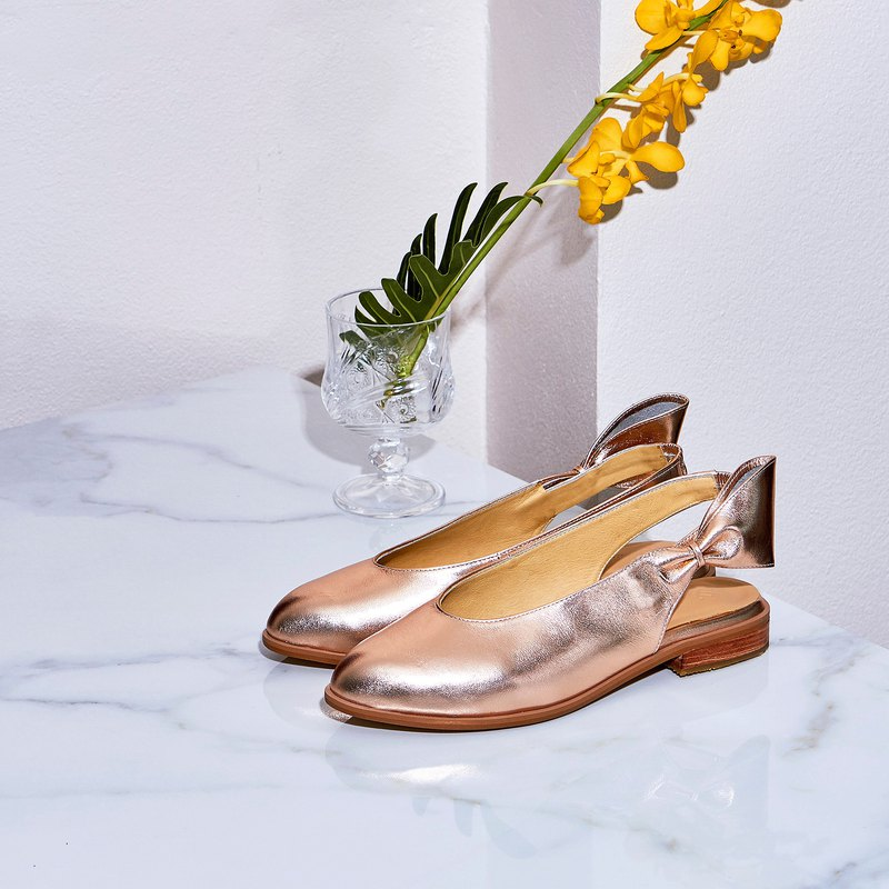 Pink Gold - CHERRY Slingback Shoes