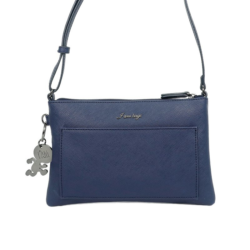 Free shipping I AM Short Shoulder / Long Shoulder / Hand / Shoulder Bag - Night Blue