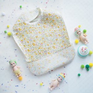 Baby Eating Apron - Yellow Flower