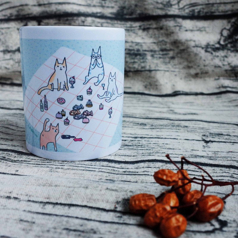 [picnic cat] good friend mug