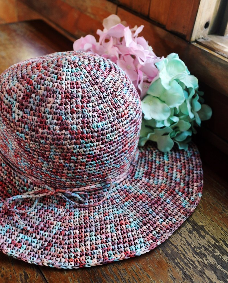 Hand - Light feather series - Spring / summer weaving hats - Hand weaving - Travel / Light travel / Birthday gifts /