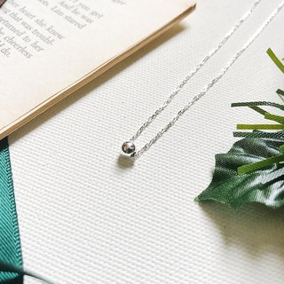 ::Silver Christmas :: Single Silver Ball Secret Necklace (Gift Box)