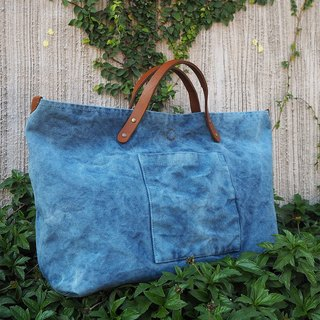 Indigo Canvas bag Large
