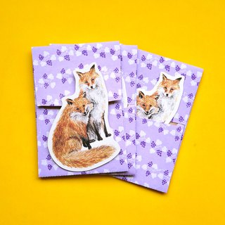 small envelope with card/Fox