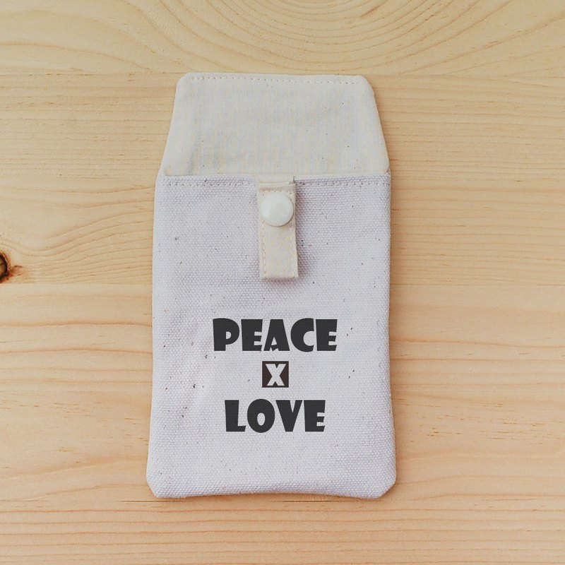 Positive energy pocket pencil case _peace and love
