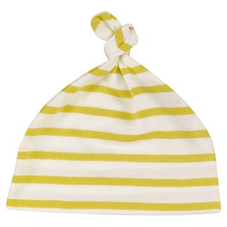 100% organic cotton yellow line baby hat made in the UK