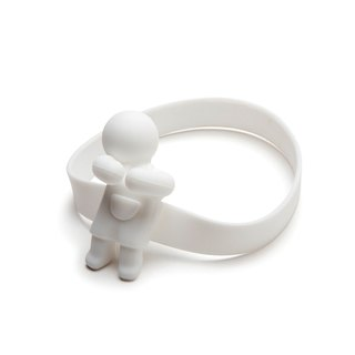 Monkey Business - June Spoon- Elastic Spoon Holder -White