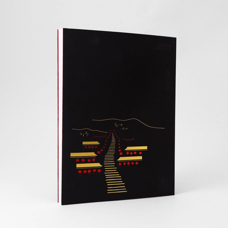 [Come on] Jiufen Mountain City car line plastic notebook
